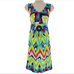 Size Large NWT▪️IKAT PRINT BEADED MEDALLION DRESS